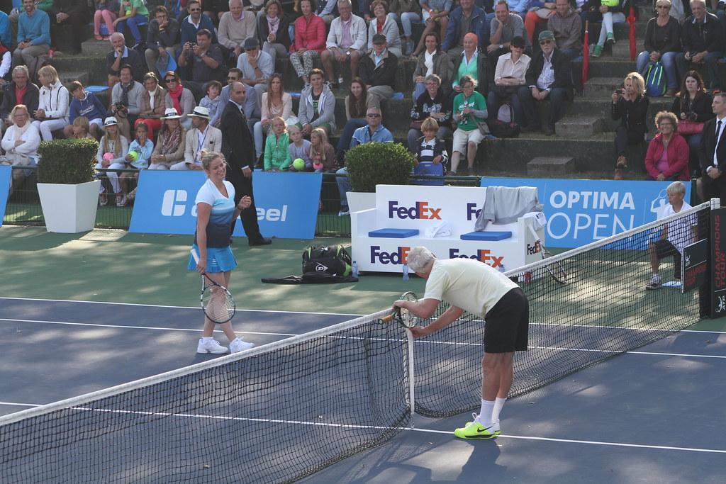 Kim Clijsters and John McEnroe