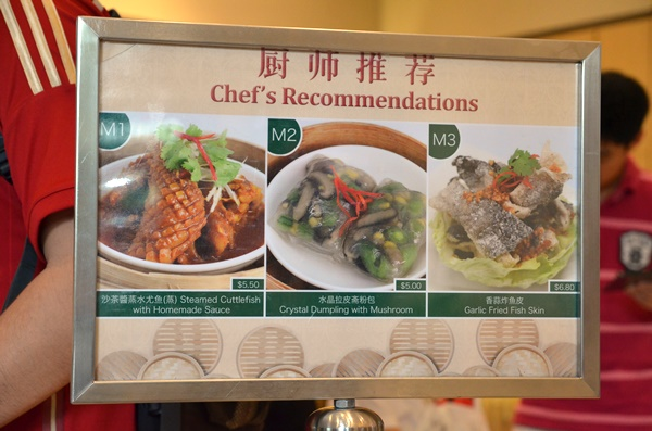 Special Chef's Recommendation