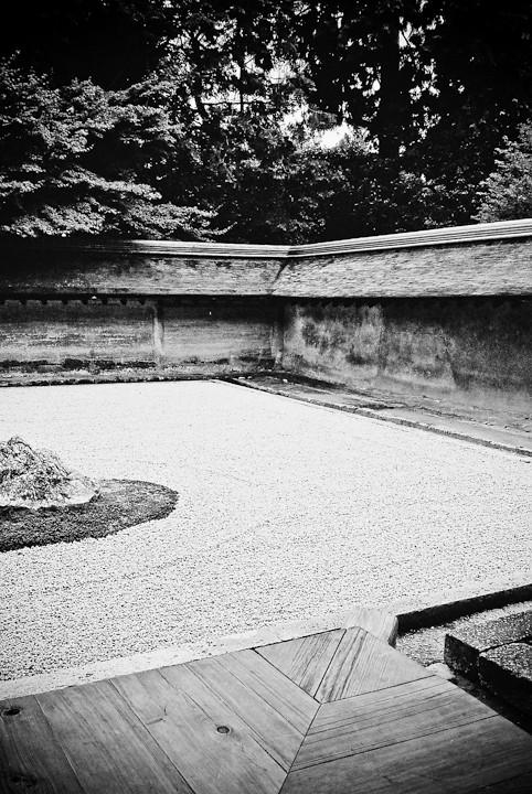 Royanji Temple Rock Zen Garden Corner, Kyoto