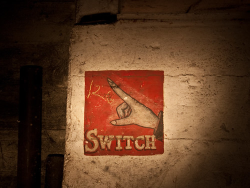 Hand Pointing at Switch
