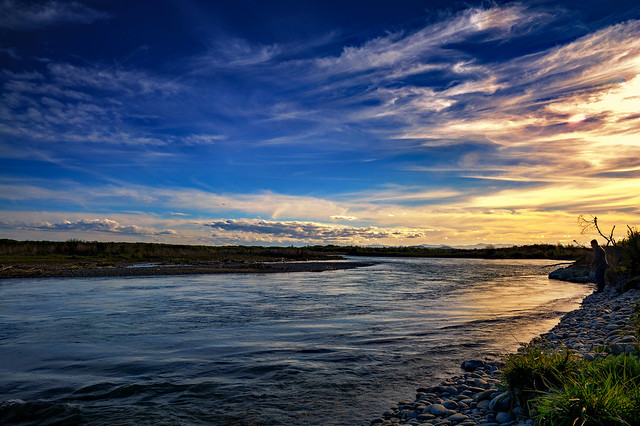 Twilight Fishing on the Waitaki