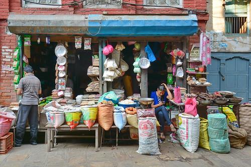 Nepal - Kathmandu - Streetlife With Shop - 109