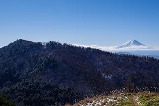 富士山と黒岳を眺めながら急降下