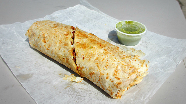 Pork Burrito from Burrito Express Truck in Des Moines, Iowa