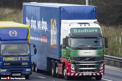 Volvo FH 6x2 Tractor with Tesco 3 Axle Box Trailer - PX11 BZB - H4684 - Emilia Lily - Eddie Stobart - M1 J10 Luton - Steven Gray - IMG_4886