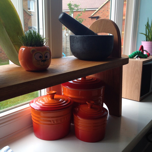Bright Le Creuset on the windowsill