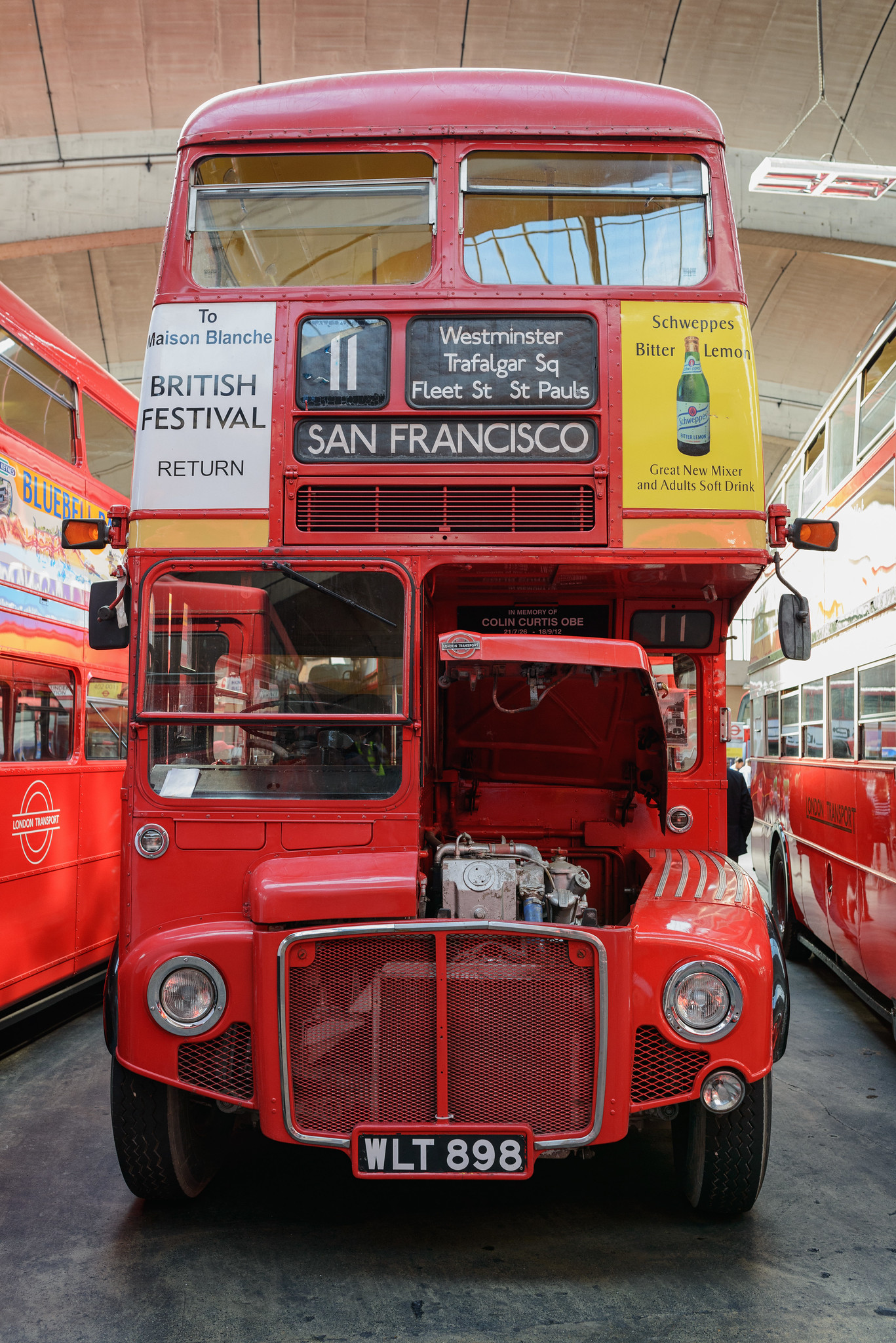 The bus to San Francisco... via Trafalgar Square