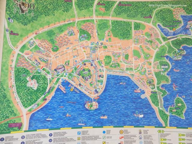 Карта Пулы, Истрия