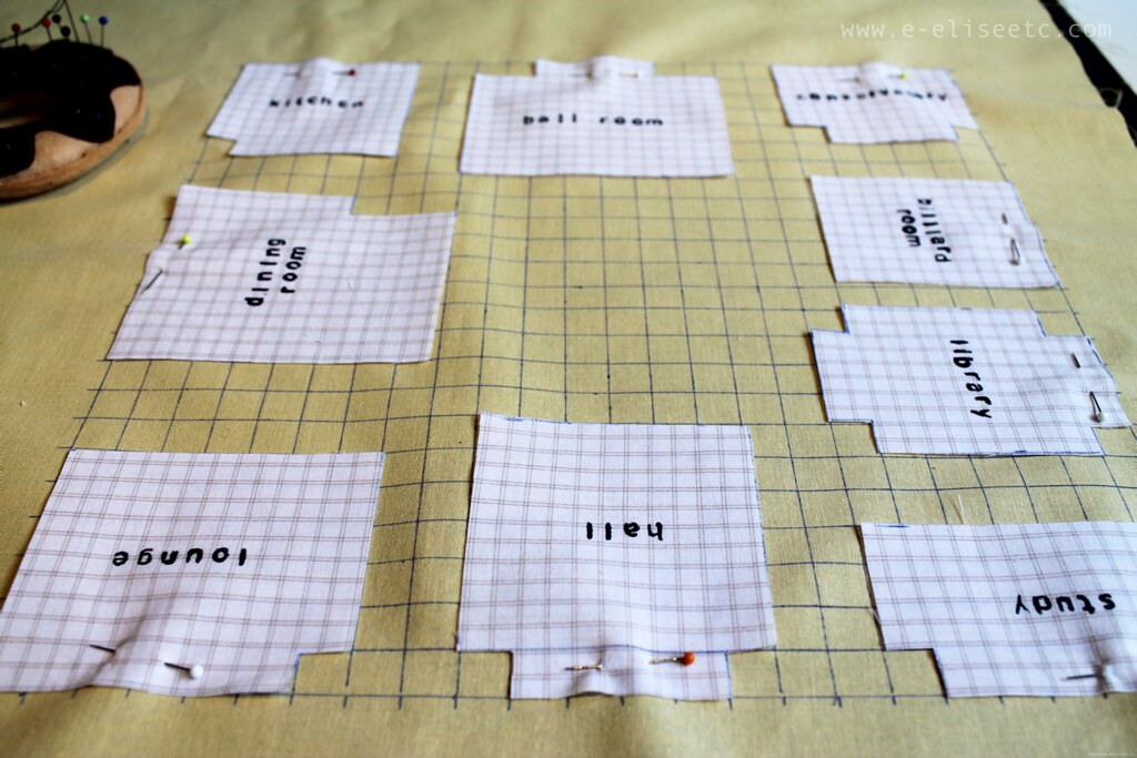 cluedo cushion sewing diy board game geekery