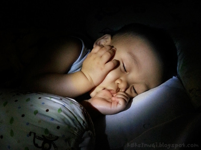 262 Days Old - Darwin Sucking Thumb While Sleeping