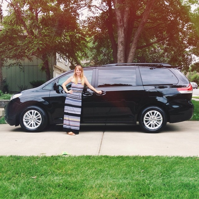 Oh damn, this just got real. #mommobile #minivan #toyota #sienna #motherhood #suburbia