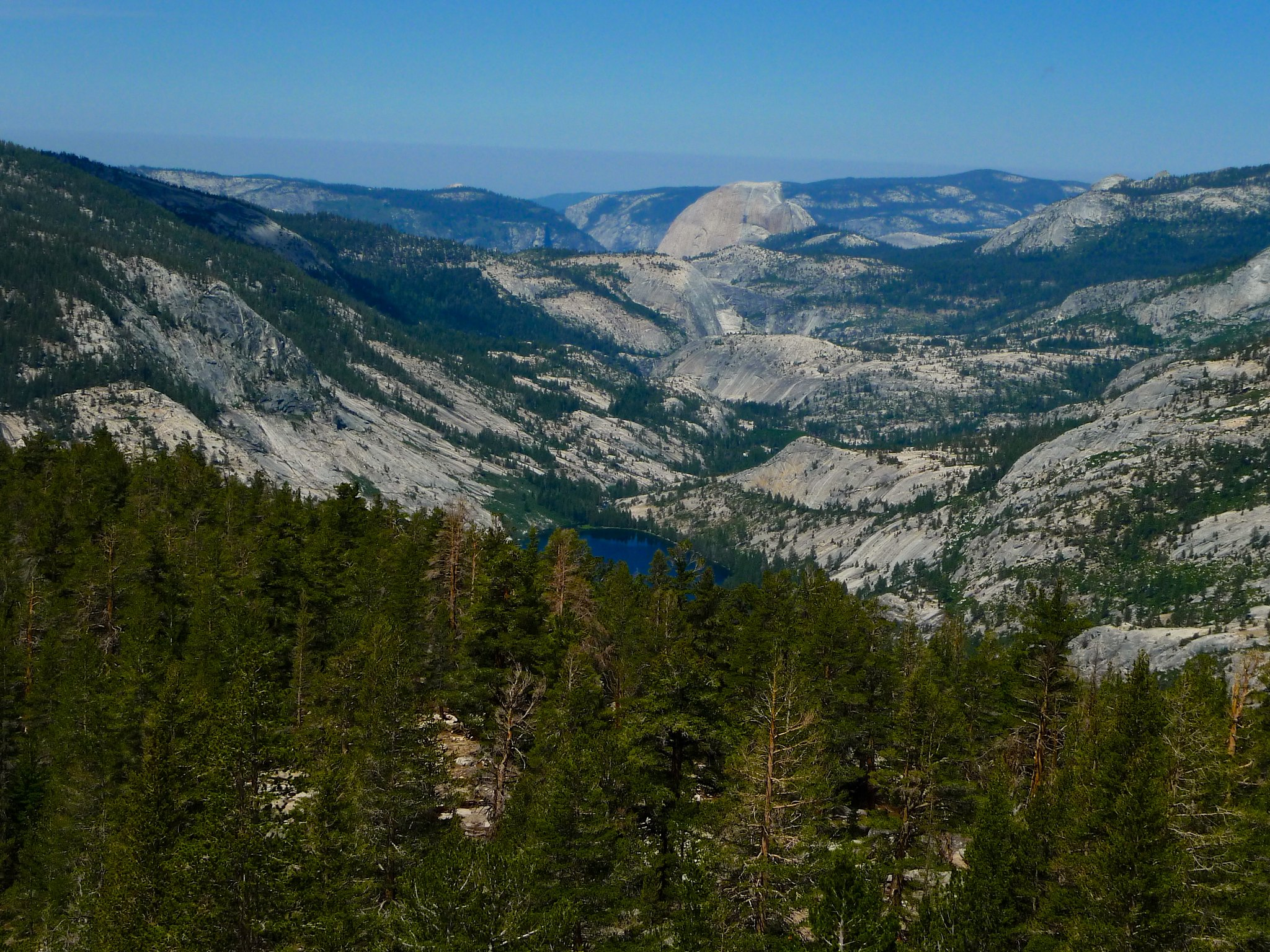 Half Dome and Merced Lake from a ridge I scrambled up