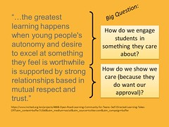"Educational Postcard:  ""#8 - Engaging students and showing we care"""