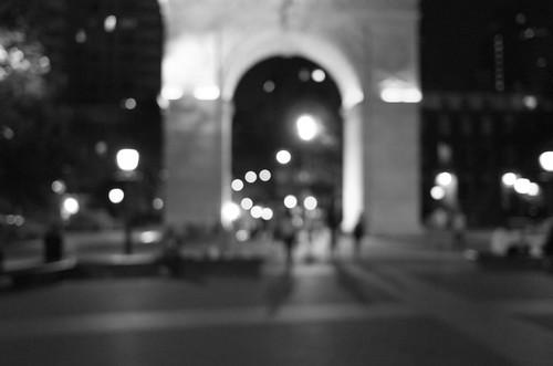Nighttime in Greenwich Village
