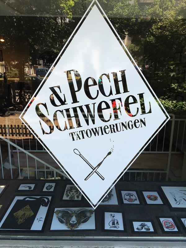 Pech und Schwefel tattoo store front Berlin Kreuzberg