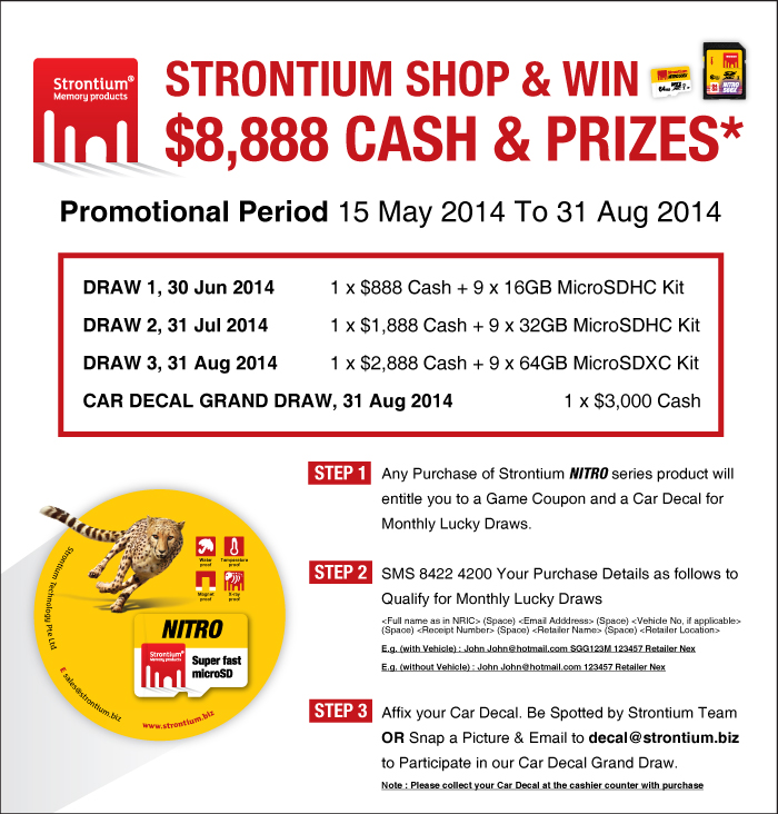 Strontium Shop & Win S$8888 Cash and Prizes