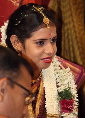 abdomen(0.0), bride(1.0), hairstyle(1.0), wedding reception(1.0), wedding(1.0), tradition(1.0), marriage(1.0), ceremony(1.0),