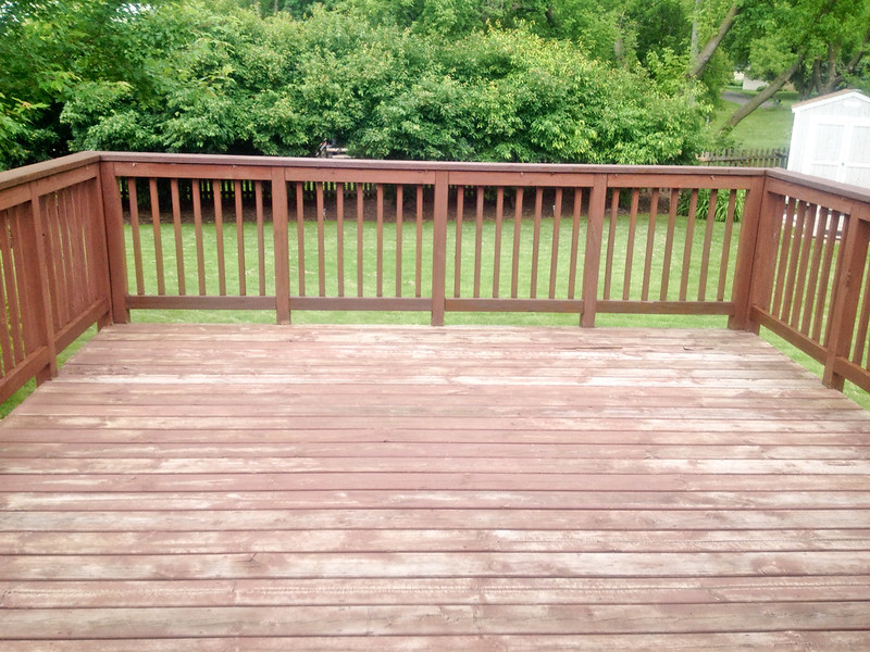 Deck before staining