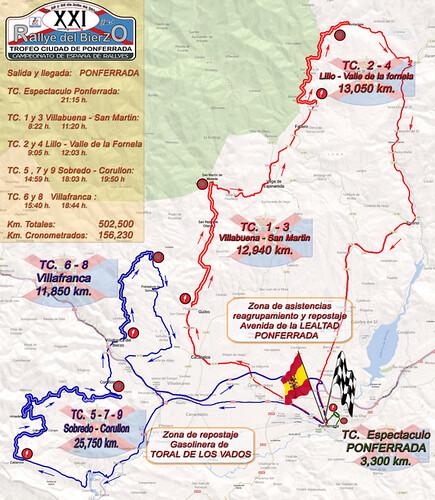 Mapa Rallye de Asfalto del Bierzo 2014