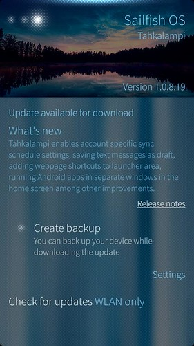 Sailfis OS update