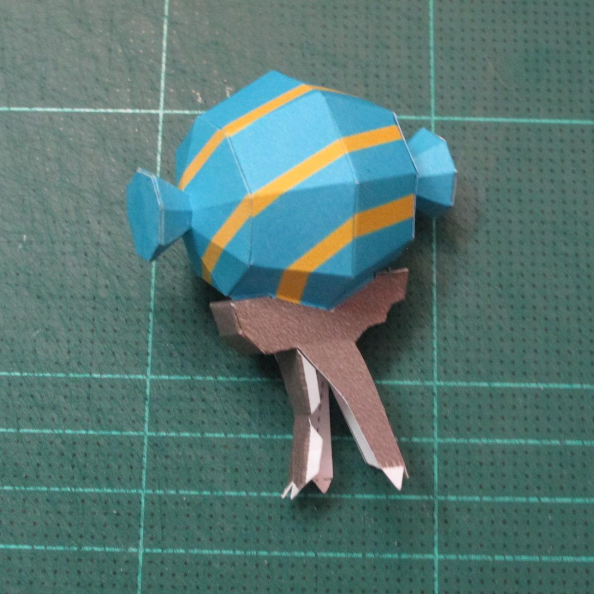 วิธีทำโมเดลกระดาษของเล่นคุกกี้รัน คุกกี้รสพ่อมด (Cookie Run Wizard Cookie Papercraft Model) 026