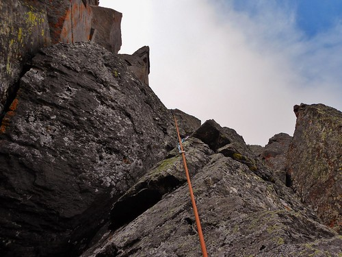 Crux of Dallas Peak Rock Climb