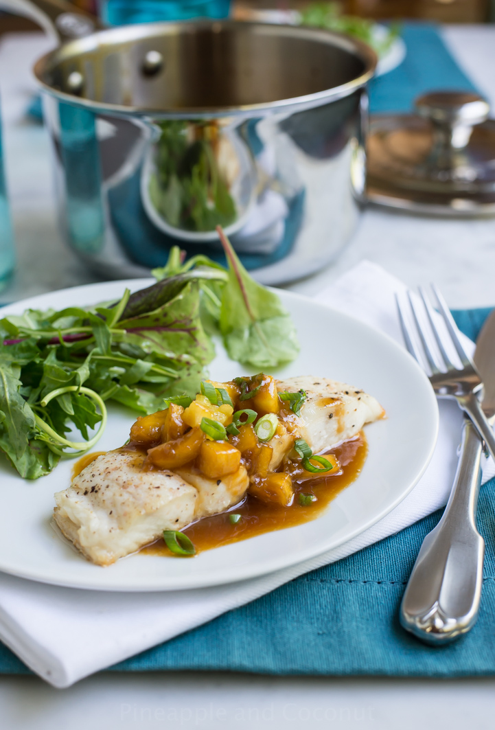 14700188233 83f6e2bf70 o Halibut with Pineapple Soy Ginger Sauce + a Le Creuset Giveaway