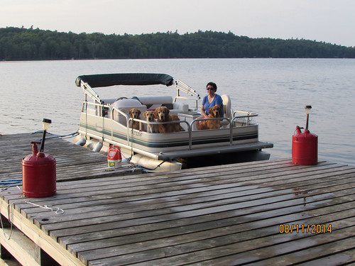 Judy and the crew preparing for an evening boat ride. Blueheron cover photo for August 2014