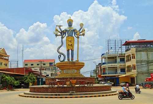 monument vishnu lord battambang