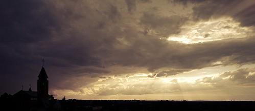 sunset clouds poland 2014 sochaczew przemkostachowski
