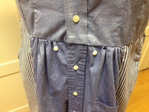 Shirt-shirtdress skirt front