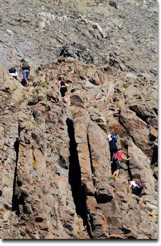 Hikers on the Torreys Peak - Kelso Ridge 2