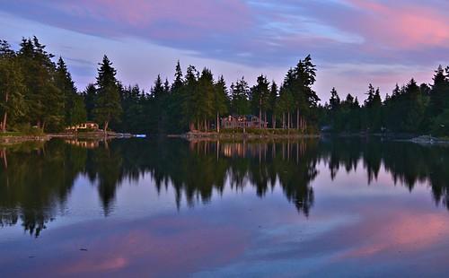sunset reflection washington blaine draytonharbor nikond7000 nikkor18to200mmvrlens