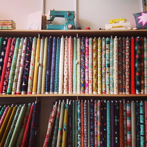 I stood in front of the entire #cottonandsteel fabric line @moderndomestic.                        I'll have one of each please!