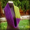 Plum and Olive Cowl Infinity Scarf