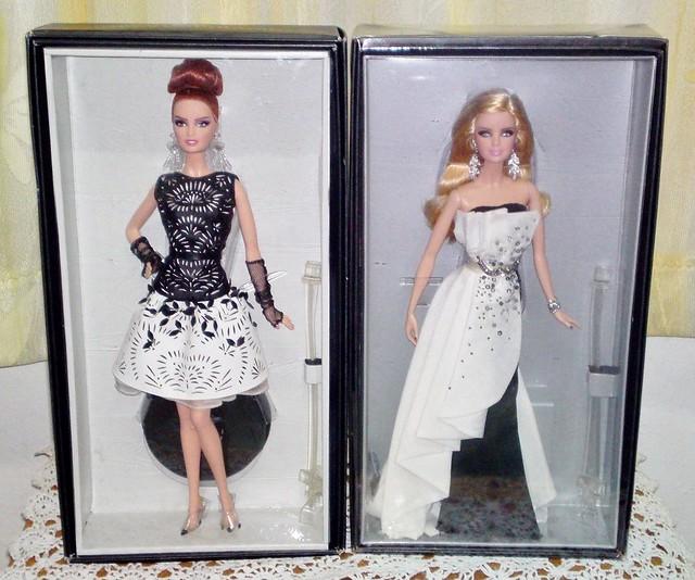 Platinum Label Black and White Barbie Dolls