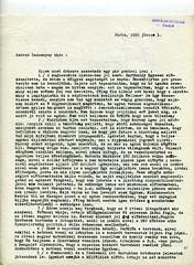 074. Habsburg Ottó levele Bakách-Bessenyey Györgynek találkozójáról Horthy Miklóssal, a magyar emigráció egységéről és a nemzetközi válságról