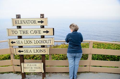Laura at Sea Lion Caves