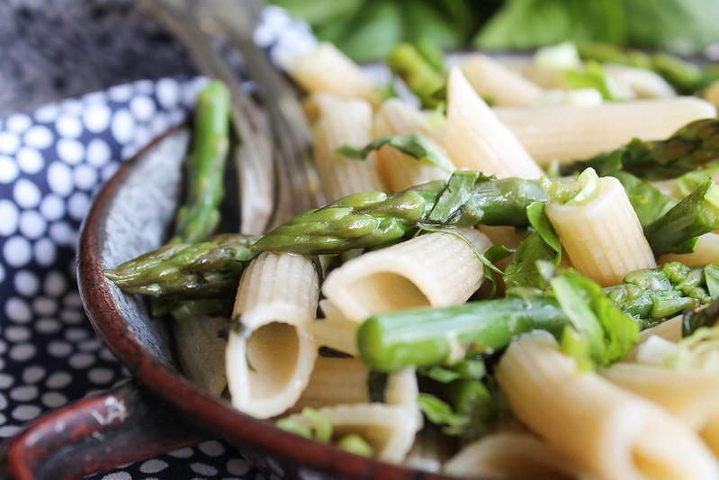recette pâtes aux asperges