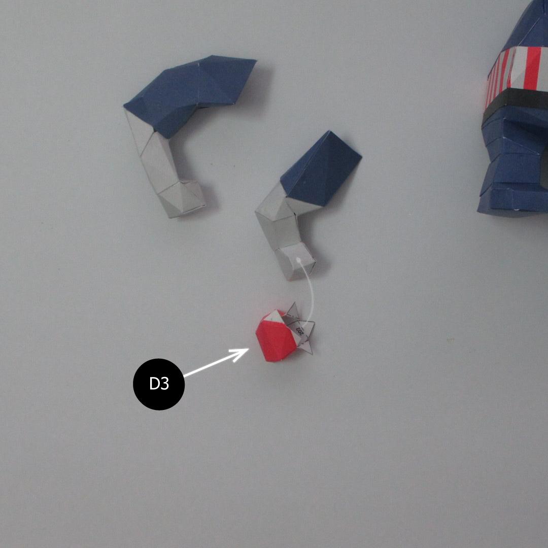 วิธีทำของเล่นโมเดลกระดาษกับตันอเมริกา (Chibi Captain America Papercraft Model) 019
