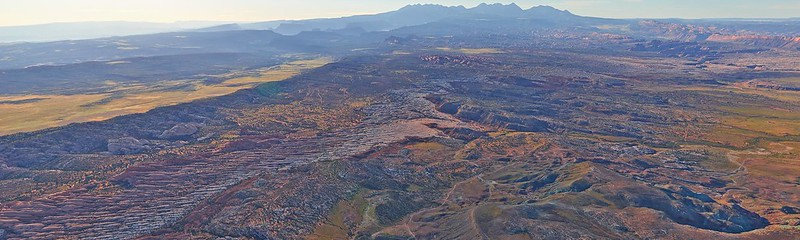 From above - Arches National Park