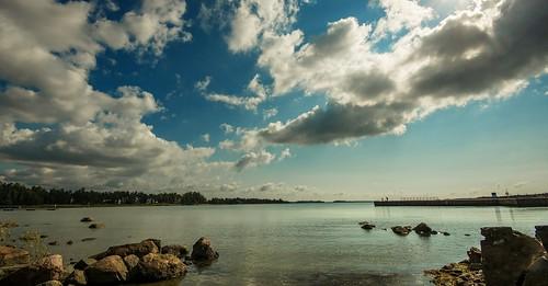 sea cloud espoo finland shore matinkylä