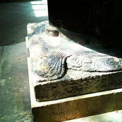 Beaver tail feet on the ancient font @bev_minster