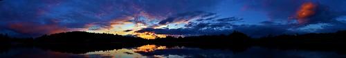sunset sun lake ny newyork color reflection water clouds kayak tranquil rensselaer sandlake westsandlake rensselaercounty reichards reichardslake