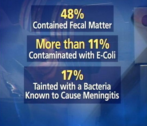 fecal matter in water