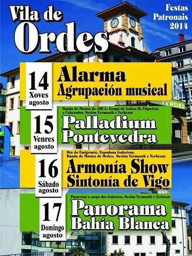Ordes 2014 - Festas patronais - cartel