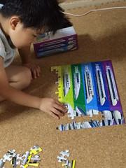 パズルで遊びとらちゃん2014/9/6