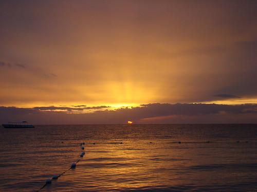 Sunset over the Caribbean Sea - Aug. 13th