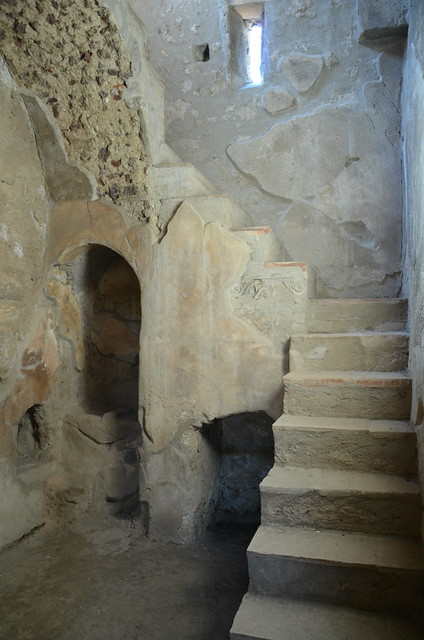 Flight of masonry stairs leading to the upper floor of the House of Menander (Regio I), Pompeii