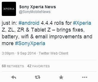 Android 4.4.4 для Sony Xperia Z, ZL, ZR